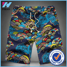 Yihao wholesale clothing summer classic Flower print design men's short breathable fast dry men beach short