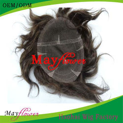 top quality Chinese human hair toupee / wigs for men full lace toupee for men short wigs virgin human hair made in china