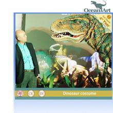 Life size animatronic dinosaur costume for carnival