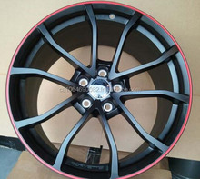 GM OEM 2012 C6 CORVETTE CENTENNIAL EDITION BLACK CUP WHEELS WITH RED STRIPES