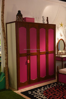 bedroom furniture wood 4 door wardrobe with modern design