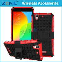 Bulk Buy From China Mobile Phone Accessories 2015 TPU+PC Hybrid Combo Case /Cover with Stand For Coolpad F2