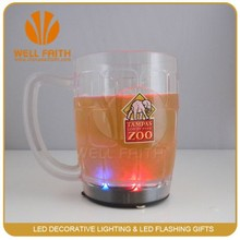 China whosesales party favor flashing multi-colored LED beer mugs, LED light up flashing pilsner beer glass