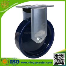 Heavy duty solid polyurethane rigid casters