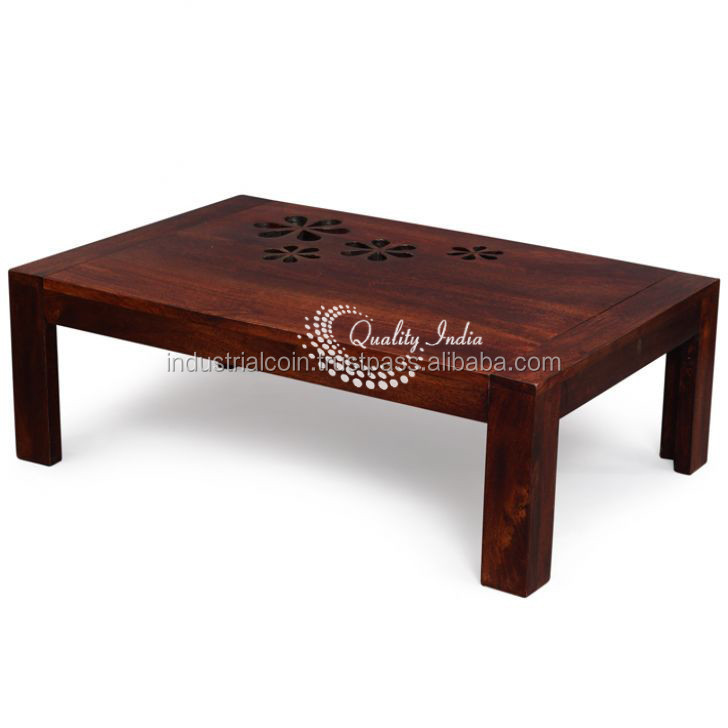 Wooden Flower Encarved Design Small And Portable Coffee Table Buy Wooden Coffee Table Designs