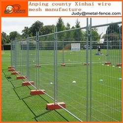 Cheap PVC coated temporary fence / Temporary welded metal fence panels for sale