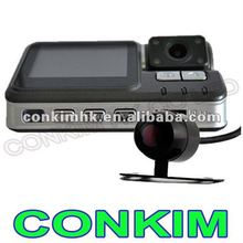 Dual Lens Car Video Camera Recorder With GPS,Accept OEM