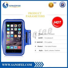 blue gym basketball sports armband for iphone 6 & iphone 6 plus