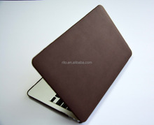 """PU Leather Hard Shell Protective Case for Macbook New Macbook 12"""" inch Retina [2015 Release](Brown)"""