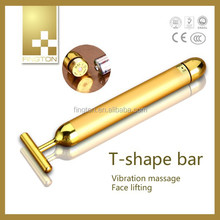 Beauty Bar 24k Golden Pulse Facial Massager, facial beauty massage tool