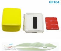 Factory Supplier Gopro hero3+ hero3 Waterproof housing case Backdoor+floaty dive diving sponge+3M sticker for Go pro GP104