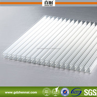 6mm Polycarbonate Hollow Sheet Transparent Triple Wall Greenhouse Roof Panels