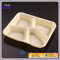 4-compartment microwave safe food container