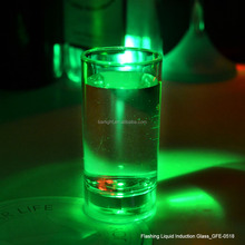 60ml liquid activated led flashing shot glass
