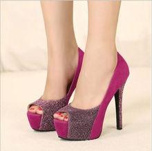 D92730T euroepan new design fashion high heel peep toe women shoes
