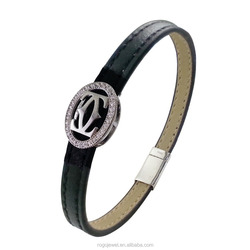 New classical mint leather bracelet jewelry manufacturer china