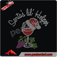 Beautiful Wine Strass Hotfix Rhinestone Motif for T-shirt