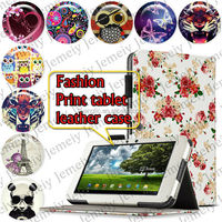 "For Asus Eee Pad TF101 10.1"" Tablets Printing Folding PU Leather Case Media Stand Folio Case Cover"