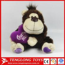 Big mouth Monkey with heart shape Animal Stuffed Plush Toy