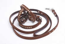 AMIGO PET velvet series with rhinestone dog collar and leash set