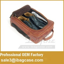 Antique Leather Golf Shoe Bag for Golf