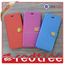 Electric tension leather slim cell phone cover for iphone 6 6+