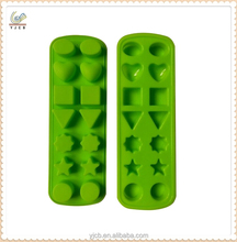 Green varied ice cube mold silicone