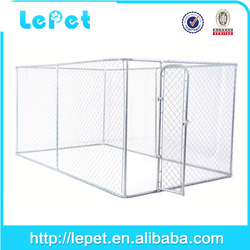 large outdoor galvanized chain link metal dog kennel
