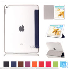 For Ipad mini 4 transparent crystal case, for Ipad mini 4 tablet leather case