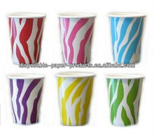 2400x 6colors Zebra Stripes ANIMAL PRINT Birthday Party Supplies Tableware Disposable Party Paper Drinking Cups Glasses