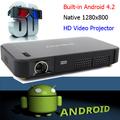 Mejor Precio DLP Wifi Proyector portátil Android proyectores inteligentes en 3D a 4.2 Wifi Wireless 2D 1280 x 800 píxeles de res