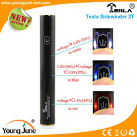 2200mah super vapor electronic cigarette tesla sidewinder 2T electronic cigarette, carbon fiber super vapor electronic cigarette