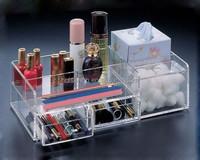 hot sale acrylic plastic material cosmetic makeup organizer