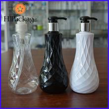 Hot sale 300ml diamond pattern PET plastic bottles/jars