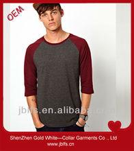 fashion men's own style cotton long sleeve tshirt