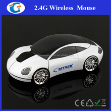 Shenzhen OEM Manufacturer 2.4G Wireless Optical White Car Mouse