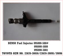 Toyota Hiace piezas del motor diesel 23670-30050 inyector de combustible para original DENSO 095000-5881