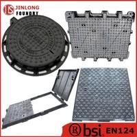EN124 class d400 cast iron manhole cover factory sell