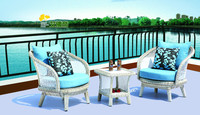 New PE rattan 2 sofas and wicker sofa poly rattan garden furniture 0703
