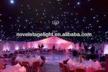 2013 buena calidad de terciopelo negro de techo decorativos/led estrella de tela