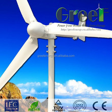 two bearings 1000w horizontal wind generator /windmill with ISO9001 made in china