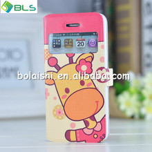 wallet flip cartoon case for iphone 5c,hello kitty leather case cover for iphone 5c
