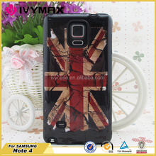 Various water transfer printing custom design case for samsung note4 PC silicone 2 in 1 combo case