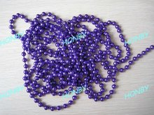Purple Color Fly Fishing Brass Bead Chain Eyes