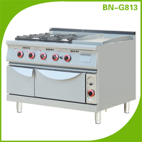 4 burenrs gas cooking range, stainless steel gas stove spare parts and gas griddle