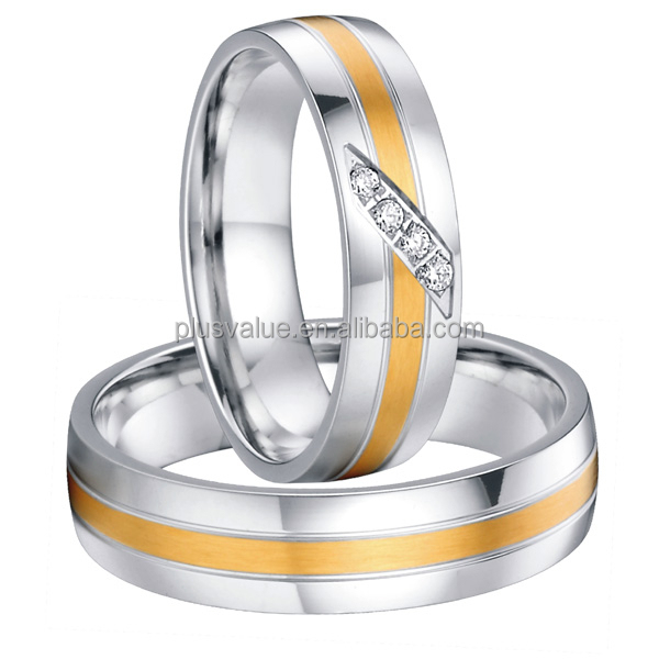 stainless steel bicolor cheap wedding rings buy cheap