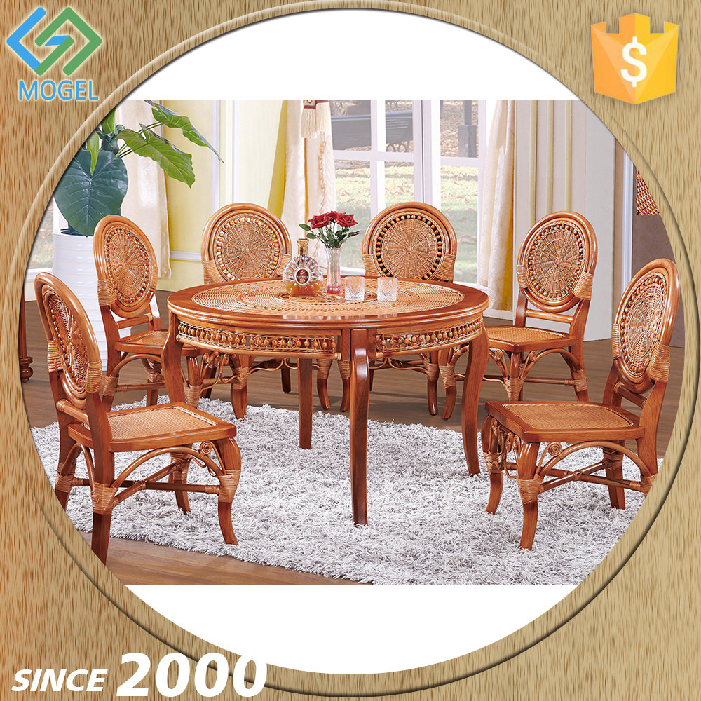 Dining room round table and chair set rattan dining set wicker buy round table and chair set - Bamboo dining room furniture ...