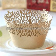 "Look! elegant design laser cut ""victorian lace"" cupcake wrappers christmas felt decorations"