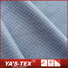 Wholesale 4 way stretch terylene polyester spandex diamond jacquard fabric