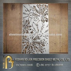 customized Steel product laser cutting exotic style metal screen with high quality made in China